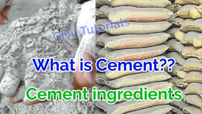 What is cement