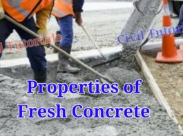 What is fresh concrete | Properties of fresh concrete
